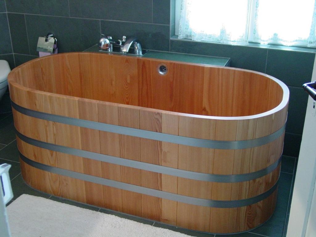 baignoire bois 151 x 73. Black Bedroom Furniture Sets. Home Design Ideas