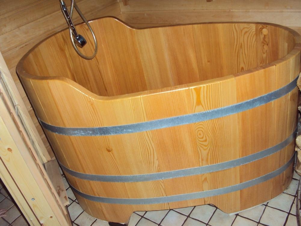 Baignoire bois sabot 119x73 for Baignoire sur mesure