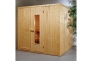 Cabine sauna nue 1er prix sans po�le - 4 angles - 3.5 KW